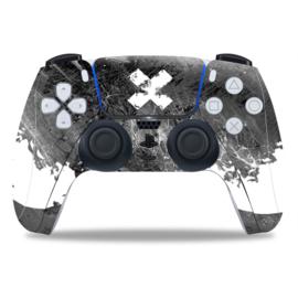 PS5 Controller Skins - Liquid Grunge Wit / Zwart