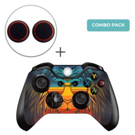 Retro Leeuw Skins Grips Bundel - Xbox One Controller Combo Packs
