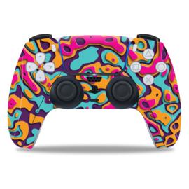 PS5 Controller Skins - Artboard Oranje / Paars