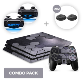 Steel Silver Skins Bundle - PS4 Pro Combo Packs