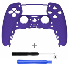 PS5 Controller Behuizing Shell - Paars Soft Touch - Front Shell