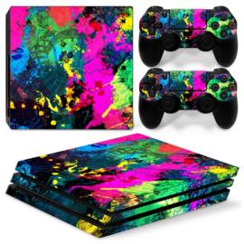 Color Splash - PS4 Pro Console Skins