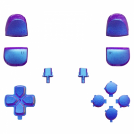 PS5 Controller Buttons - Metallic Chameleon Blauw / Paars - 11 in 1 Button Set