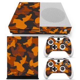 Army Camo Oranje Zwart - Xbox One S Console Skins