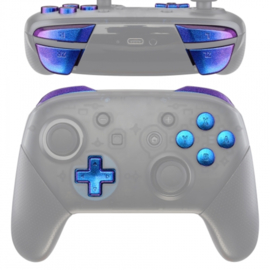 Metallic Chameleon Blue / Purple - Nintendo Switch Pro Controller Buttons