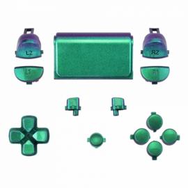 Metallic Chameleon Green / Purple (GEN 4, 5) - PS4 Controller Buttons