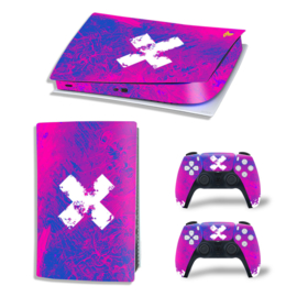 PS5 Console Skins - Liquid Grunge Neon Paars