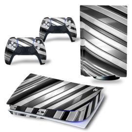 PS5 Console Skins - Metal Twirl Black & White