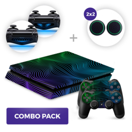 Brainwaves Skins Bundel - PS4 Slim Combo Packs