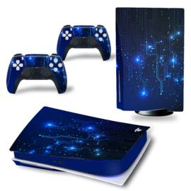 PS5 Console Skins - CPU Blue