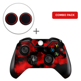 Army Camouflage Red Skins Grips Bundel - Xbox One Controller Combo Packs