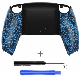 PS5 Controller Behuizing Shell - Blauw 3D Grip - Back Shell