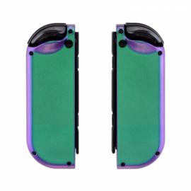 NS Behuizing Shell - Groen / Paars Metallic - Joy Con Controller Shells