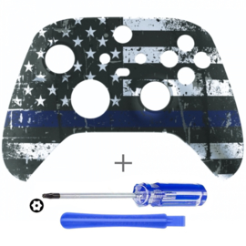Xbox Series Controller Behuizing Shell - Blue Stripe US - Front Shell