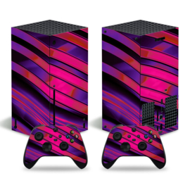 Metal Twirl Paars Rood - Xbox Series X Console Skins