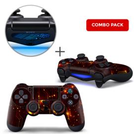 CPU Rood Skins Bundel - PS4 Controller Skins