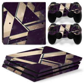 Purple White Abstract - PS4 Pro Console Skins