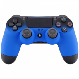 Gradient Soft Touch Zwart / Blauw - Custom PS4 Controllers V2