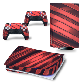 PS5 Console Skins - Metal Twirl Red / Black