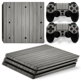 Wood Grey - PS4 Pro Console Skins