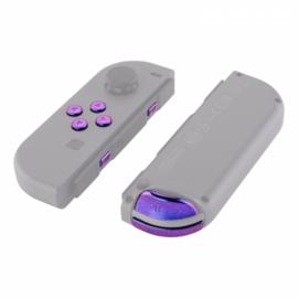 NS Buttons - Blauw / Paars Metallic - Joy Con Controller Buttons