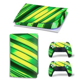 PS5 Console Skins - Metal Twirl Geel / Groen