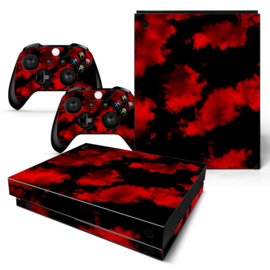 Army Camouflage Red - Xbox One X Console Skins