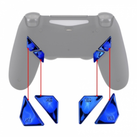 Chrome Blauw - PS4 eSports Back Buttons