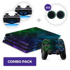 Brainwaves Skins Bundel - PS4 Pro Combo Packs