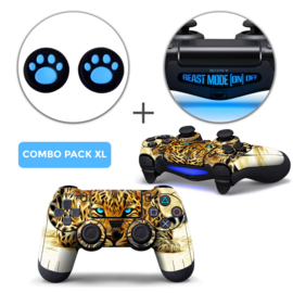 Luipaard Skins Grips XL Bundel - PS4 Controller XL Combo Packs