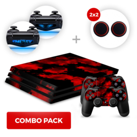 Army Camouflage Red Skins Bundel - PS4 Pro Combo Packs