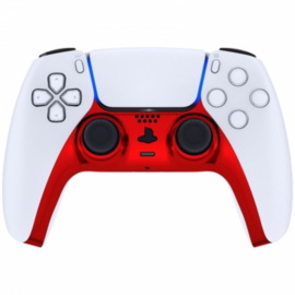 Sony PS5 DualSense Draadloze Controller - Rood Chrome Cover Custom