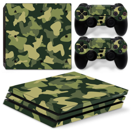 Army Camo Groen Zwart - PS4 Pro Console Skins