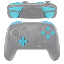 Soft Touch Sky Blue - Nintendo Switch Pro Controller Buttons