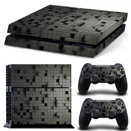 3D Cubes Black - PS4 Console Skins