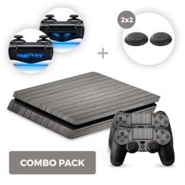 Wood Grey Skins Bundel - PS4 Slim Combo Packs