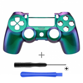 Metallic Chameleon Green / Purple (GEN 4, 5) - PS4 Controller Shells