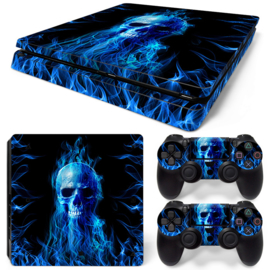 Fire Skull - PS4 Slim Console Skins