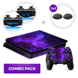 Dark Galaxy Skins Bundel - PS4 Slim Combo Packs