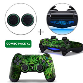 Weed Skins Grips XL Bundel - PS4 Controller XL Combo Packs