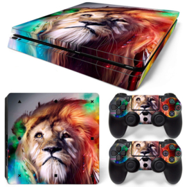 Lion Abstract - PS4 Slim Console Skins