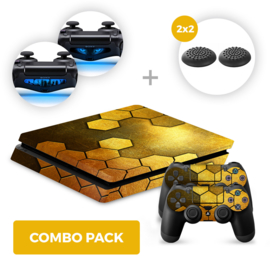 Steel Gold Skins Bundel - PS4 Slim Combo Packs