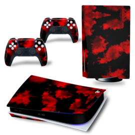 PS5 Console Skins - Army Camouflage Red