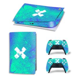 PS5 Console Skins - Liquid Grunge Blue / Green
