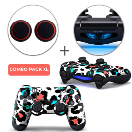 Luipaard Print Multi Skins Grips XL Bundel - PS4 Controller XL Combo Packs