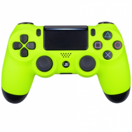 Soft Touch Neon Geel - Custom PS4 Controllers V2