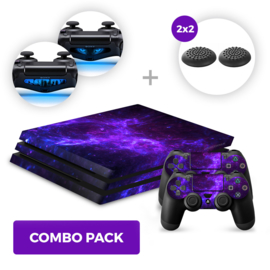Dark Galaxy Skins Bundel - PS4 Pro Combo Packs