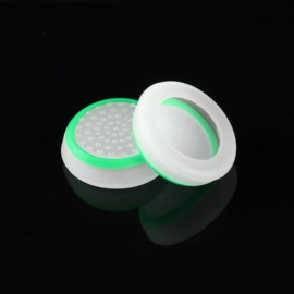 White with Green Circle - PS4 Thumb Grips