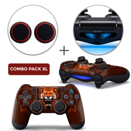 Gamer Tiger Skins Grips XL Bundel - PS4 Controller XL Combo Packs