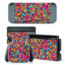 Artboard Paars Geel - Nintendo Switch Skins